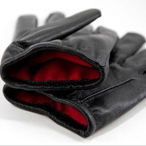 🖤🆕 Red Cashmere Lined Black Gloves